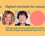 Digitalt stormøte for osloungdom. Illustrasjonsbilde.