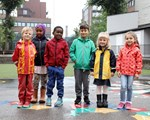 Skolestartere på Tøyen.